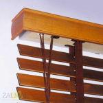 mechanizm żaluzji drewnianej naściennej